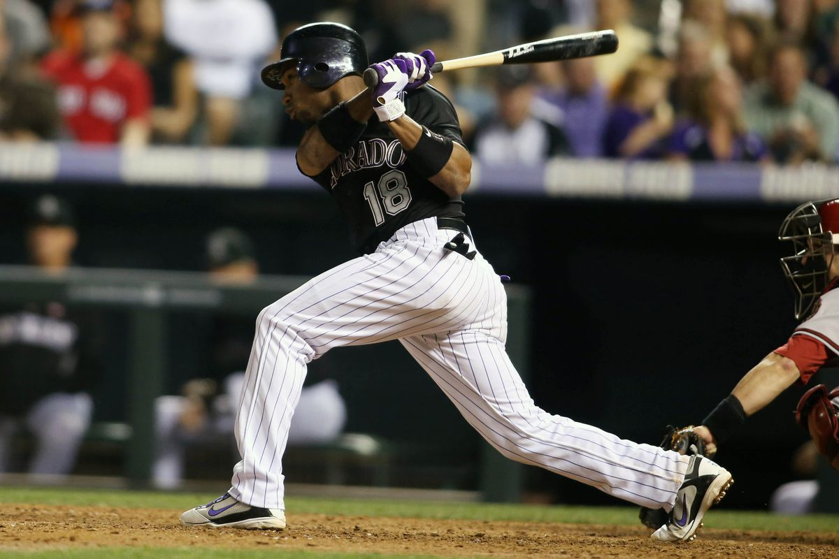 Jonathan Herrera was the only Rockies position player left on the bench last night.