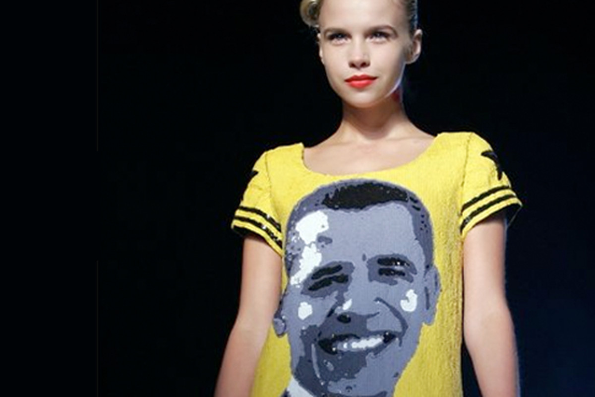 """The Obama Dress"" by Jean Charles de Castelbajac"
