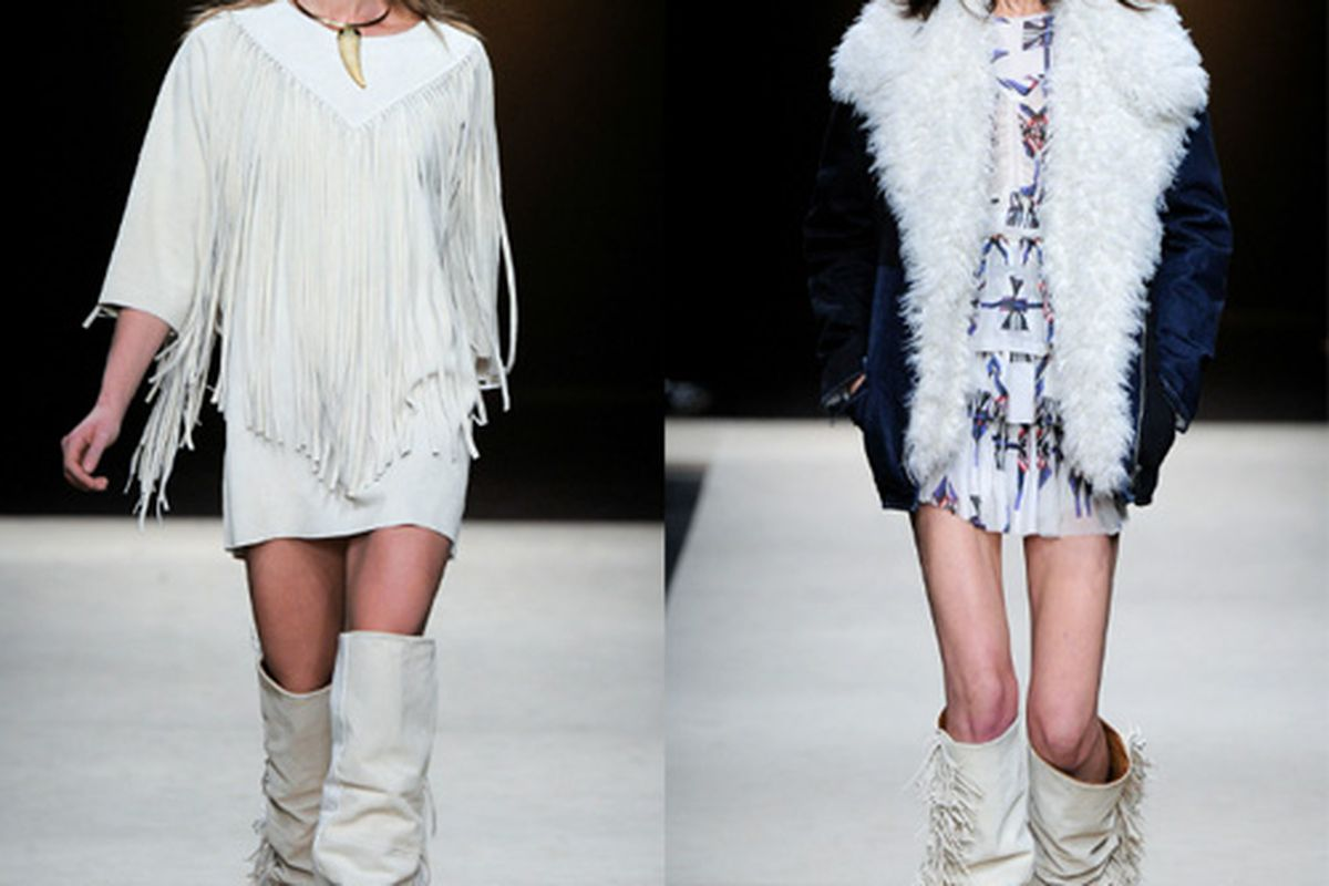 """Isabel Marant Fall 2011. Photos via <a href=""""http://www.style.com/fashionshows/complete/F2011RTW-IMARANT"""">Style.com</a>."""
