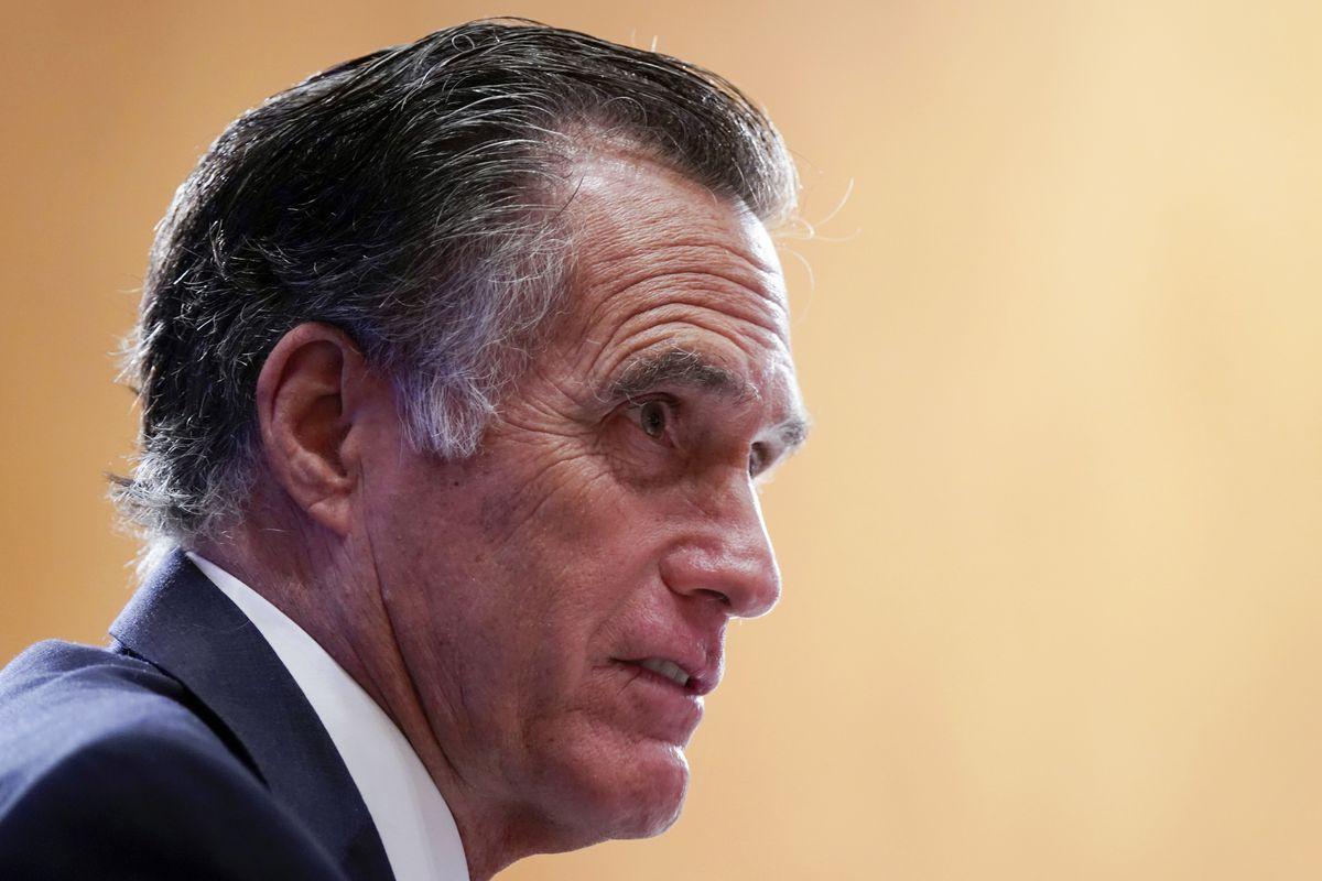 Mitt Romney, 2012 Republican nominee for president, speaks on Capitol Hill in Washington.