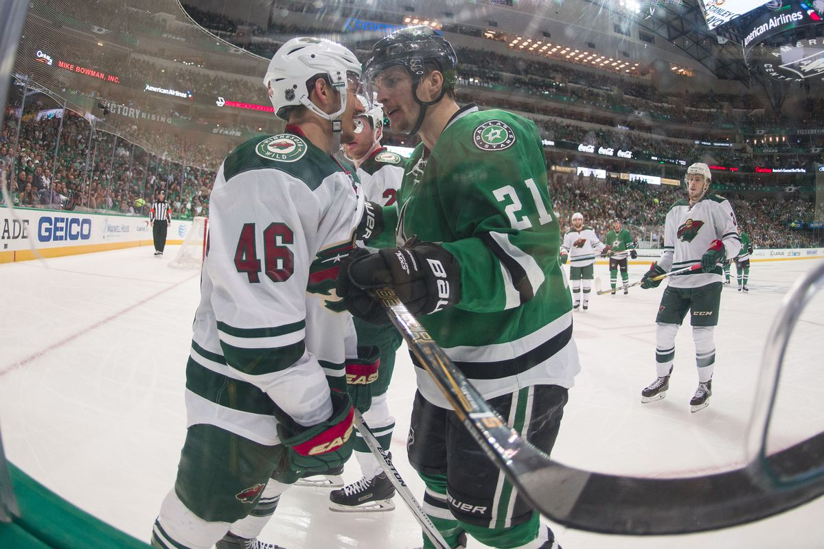 Antoine Roussel has had just about enough of Jared Spurgeon, and so have you, probably.