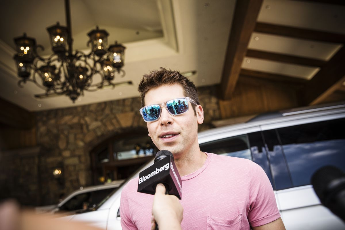 Sam Altman, president of Y Combinator and founder of political initiative United Slate, arrives for the annual Allen & Company Sun Valley Conference, on July 10, 2018, in Sun Valley, Idaho. Every July, some of the world's wealthiest people in media, f