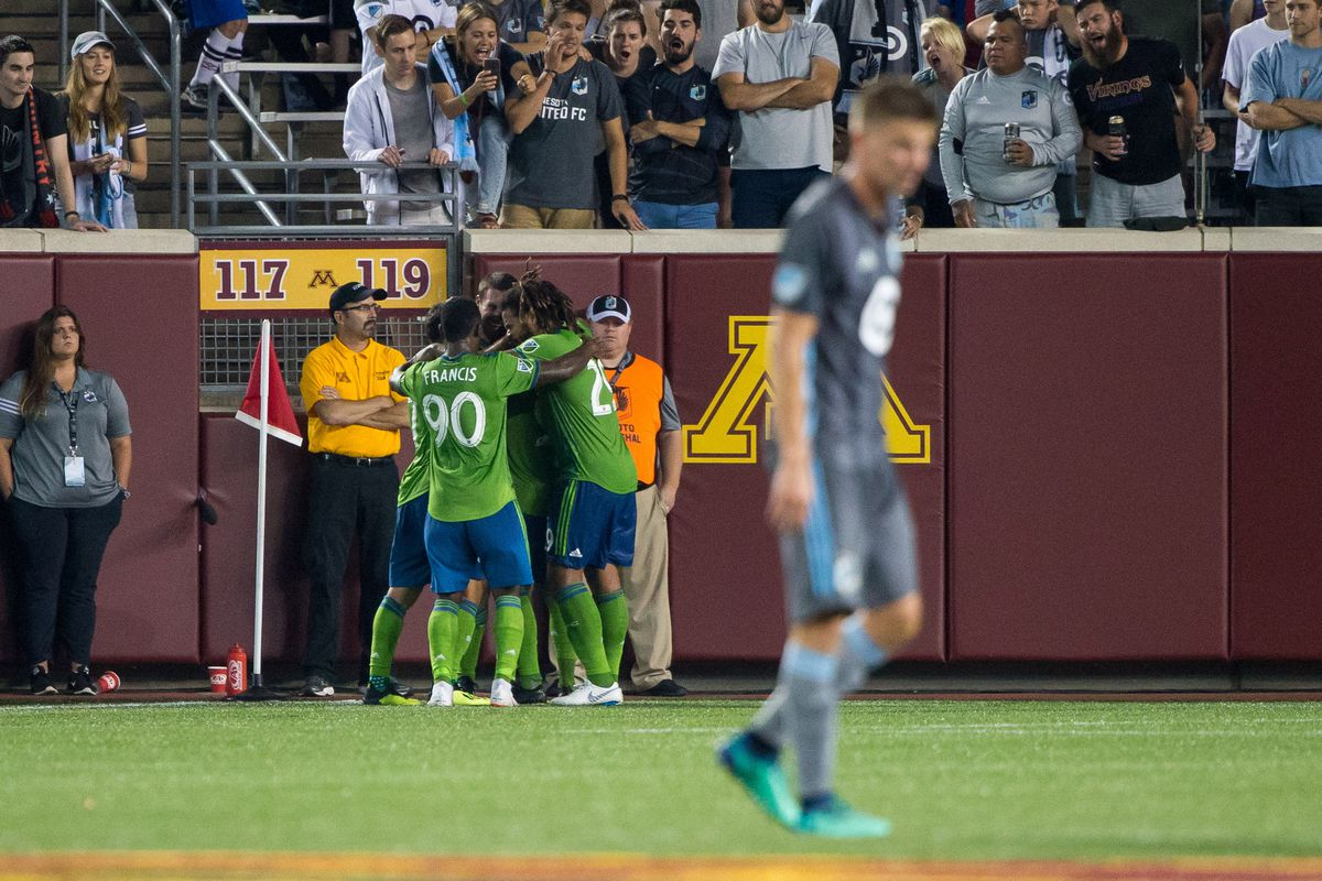 MLS: Seattle Sounders at Minnesota United FC