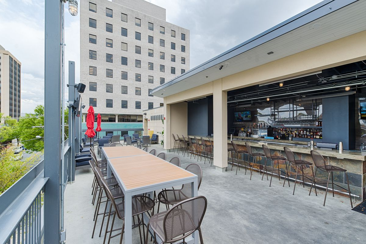 The roof deck at Urban Heights