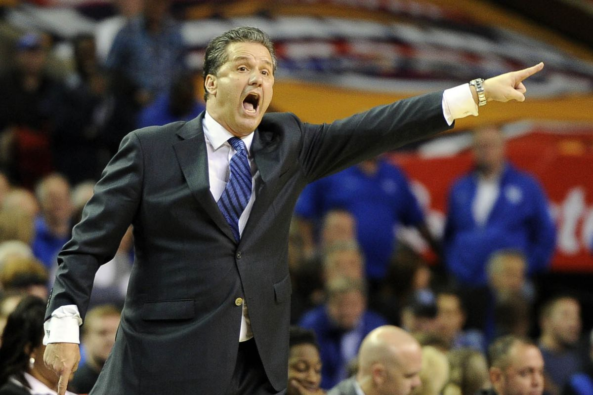 I agree, Coach Calipari. Mike Brey should have to leave and come back dressed more like you.
