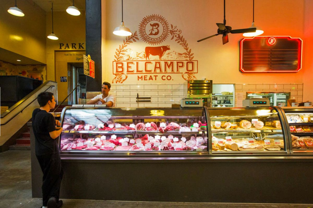 Belcampo Meat Company's Grand Central Market location in Downtown Los Angeles