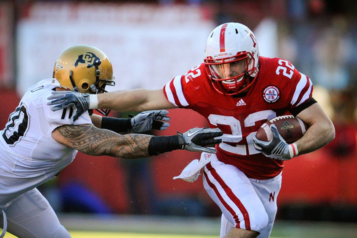 Newbies? This is Rex Burkhead. I don't care what the recruiters told you or how hard they kissed your asses. You are nowhere near this good yet.  (Photo by Eric Francis/Getty Images)