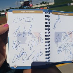 Just some of the autographs we got
