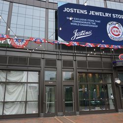 The Jostens Store appears to now be closed, despite the advertising on the video board