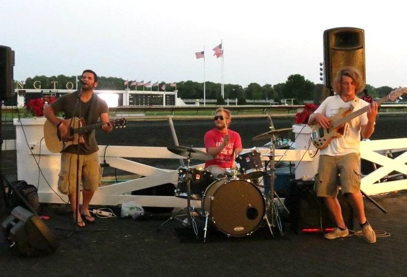 Kevin Clark performs at Arlington Park 4th of July fireworks.