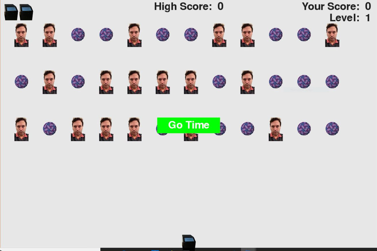 a theranos employee made a crude space invaders clone featuring the journalist that led to its downfall