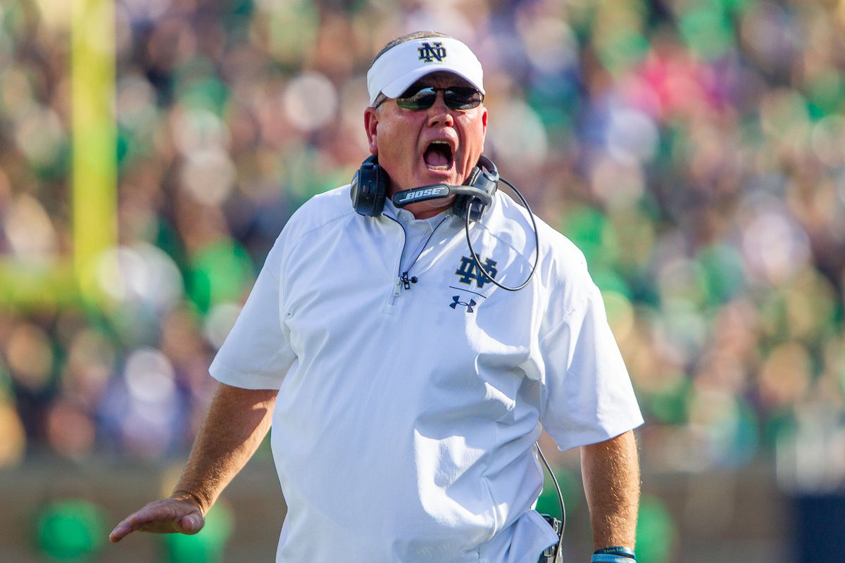 Brian Kelly notre dame ap coach of the year