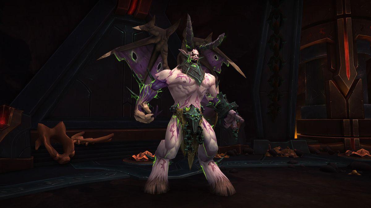 World of Warcraft- the raid boss Varimathras in the Throne of Antorus