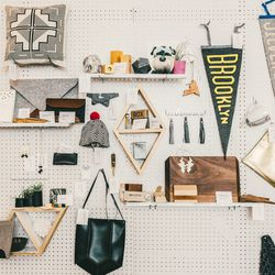 Felt, leather and Brooklyn-themed items at Etsy's holiday preview.