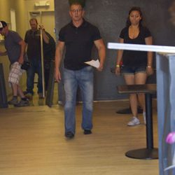 Robert Irvine, the host of Restaurant: Impossible, at Maple Tree Cafe.
