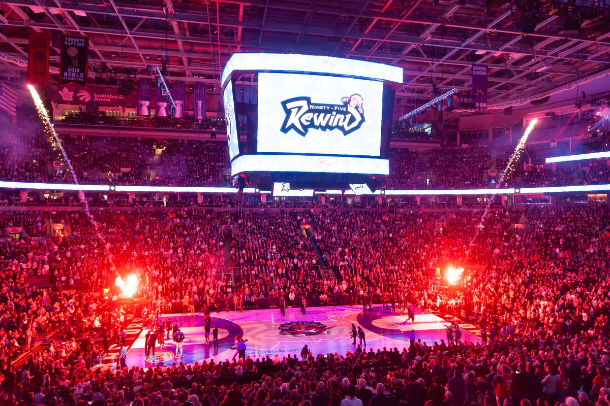 General View Of Scotiabank Arena During Toronto Raptors Vs Los Angeles Clippers NBA Game