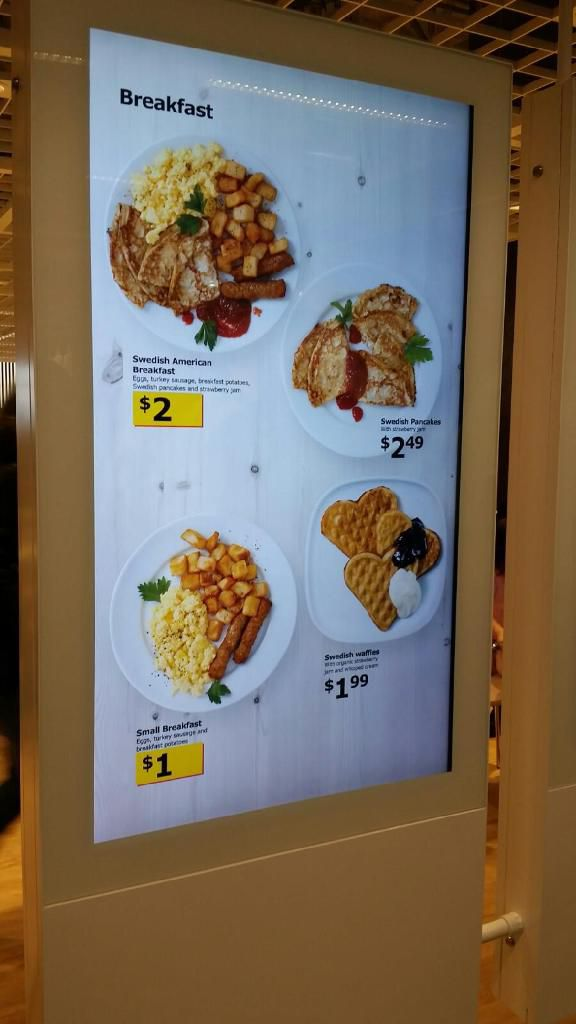 10 25 A M Here S The Menu It Pretty Standard Ikea Food At Mind Boggling Low Prices