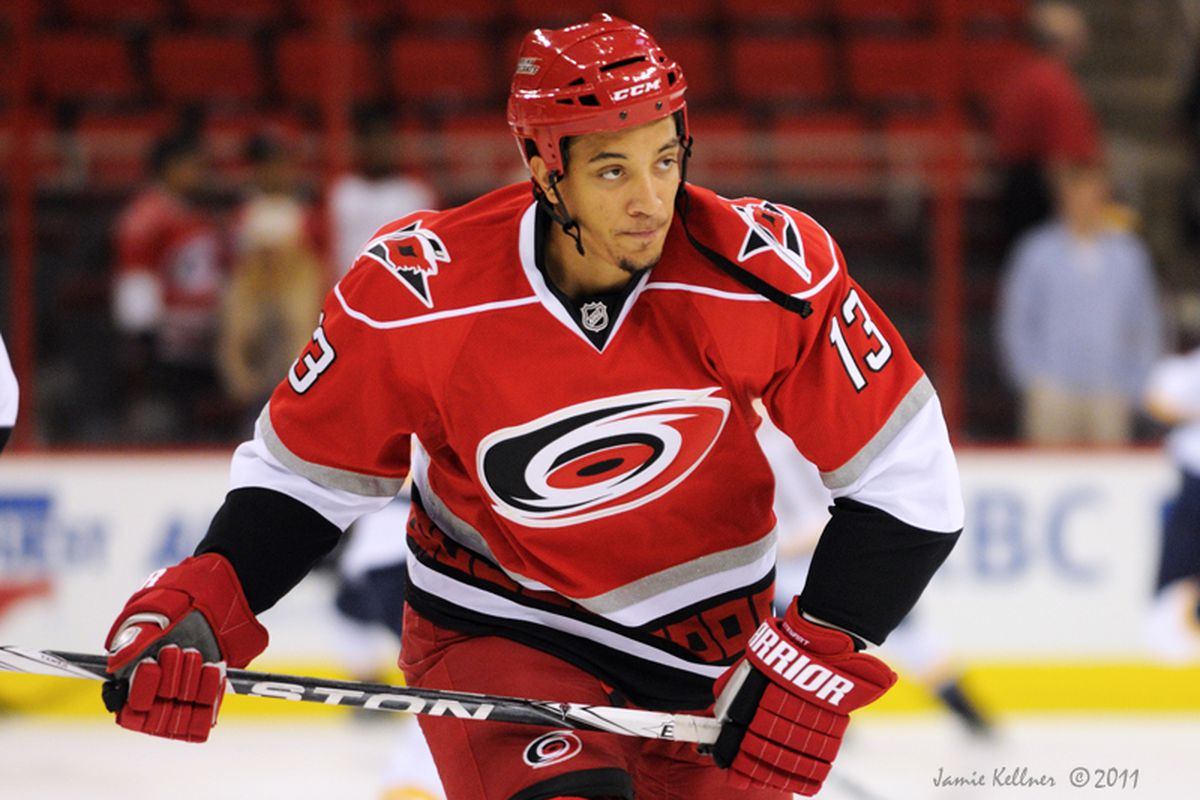 """TSN's Bob McKenzie reported via Twitter that Hurricanes forward Anthony Stewart will be placed on waivers today. (Photo by <a href=""""http://www.flickr.com/photos/jbk-ltd/collections/72157619609115405/"""">Jamie Kellner</a>)"""