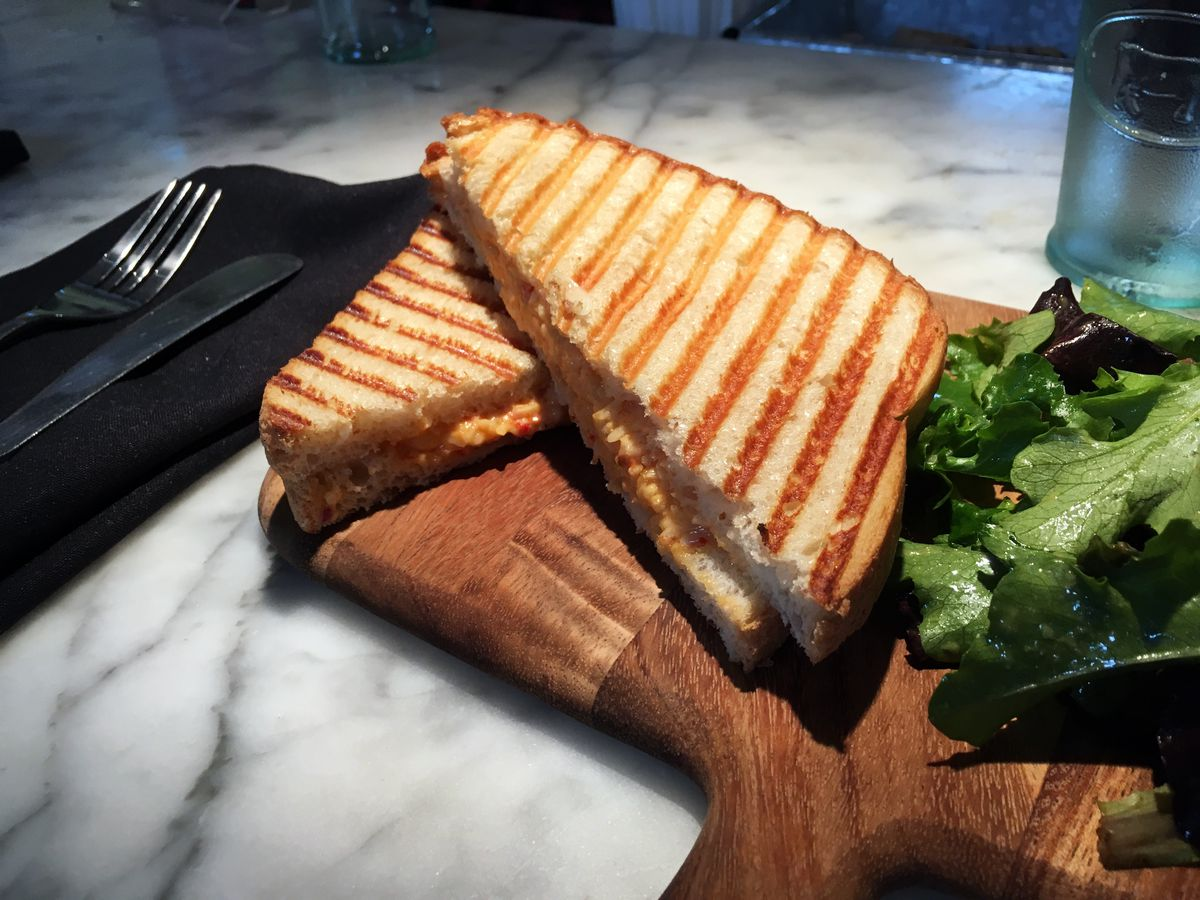 Grilled Pimiento cheese from Cheesetique in the Del Ray neighbo