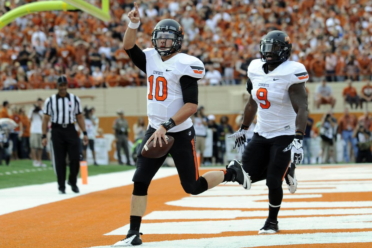 Pew pew: The Cowboys look to derail the Baylor attack on Saturday night in Stillwater