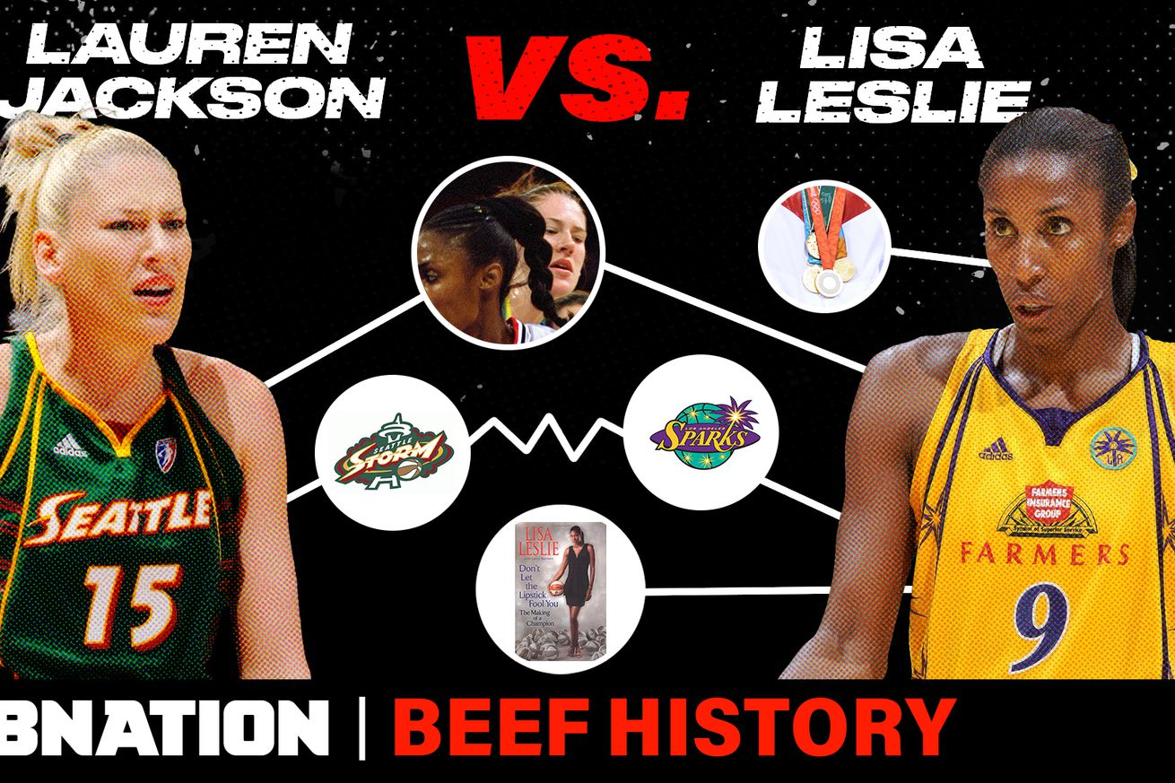 THUMB LeslieJackson.0 - Lauren Jackson ripping Lisa Leslie's hair out heated up a decade-long beef. Was it intentional?