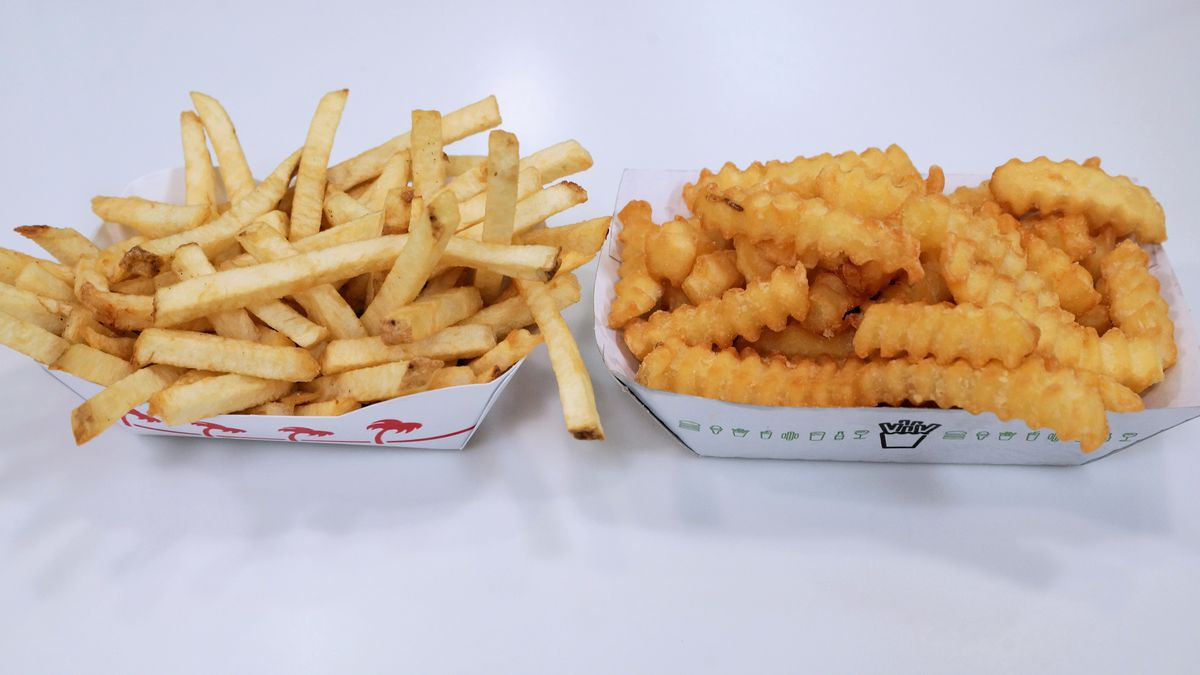 In-N-Out Burger fries and Shake Shack fries