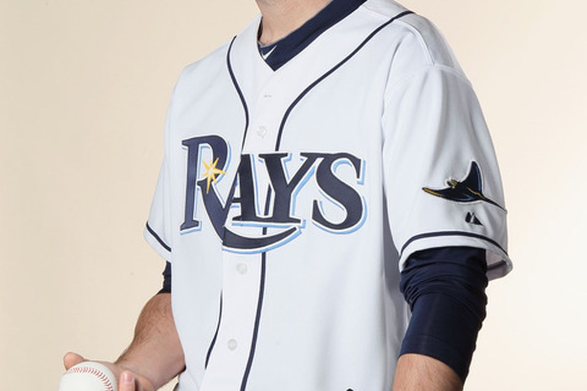 FT. MYERS FL - FEBRUARY 22:  Dirk Hayhurst #73 of the Tampa Bay Rays poses for a portrait during the Tampa Bay Rays Photo Day on February 22 2011 at the Charlotte Sports Complex in Port Charlotte Florida.  (Photo by Elsa/Getty Images)