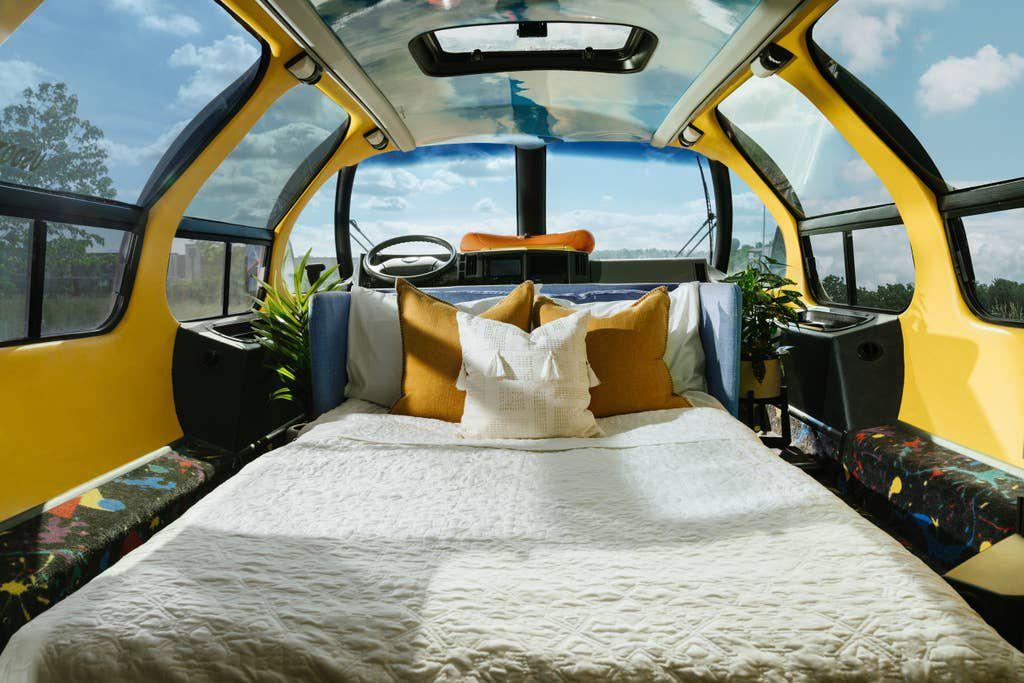 Bed inside vehicle