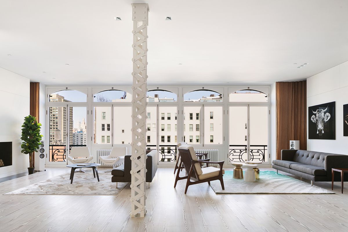 In Soho, a sprawling penthouse loft with huge roof deck wants $22.5M ...
