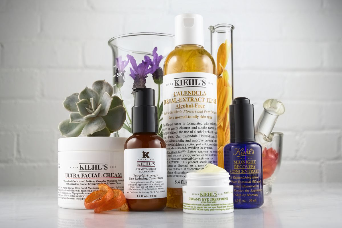 An assortment of Kiehl's products.