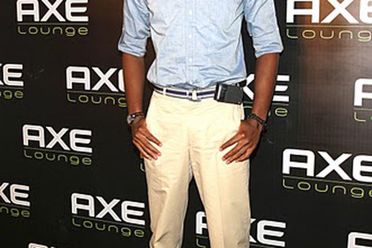 Bosh poses for TMZ...uh...an AXE photographer...