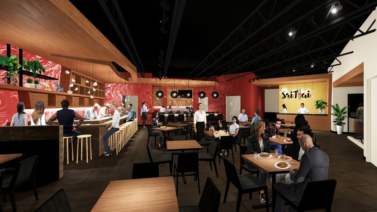 Sri Thai Kitchen And Sushi Opens At Atlantic Station In Midtown Atlanta Eater Atlanta Places such as sushi station revolving sushi bar attract travelers to phoenix (az). sri thai kitchen and sushi opens at