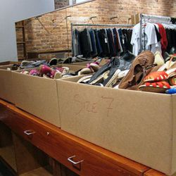 Here's what the Marais section looks like. We saw sizes 5, 7, and 7.5.