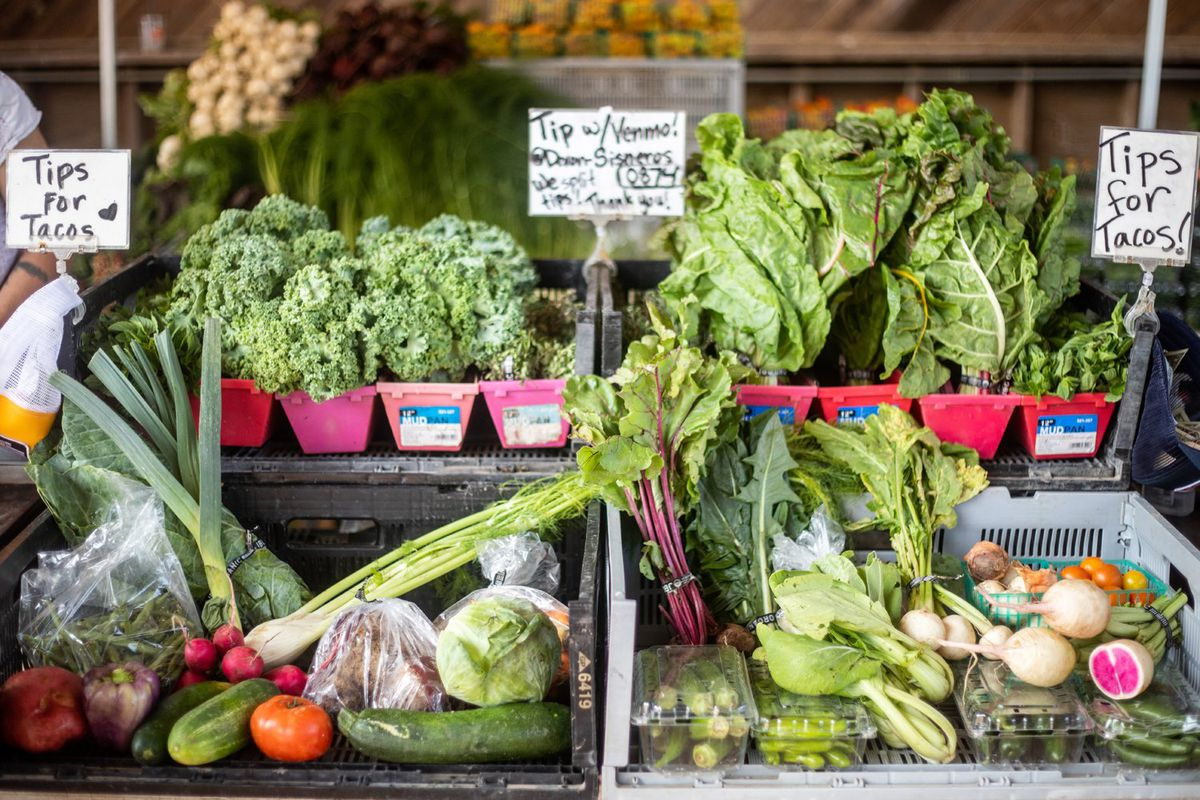 Greens at the Texas Farmers Market at Mueller