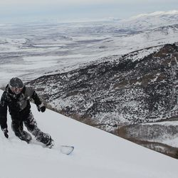 Tyler Burdick in Nevada's Ruby Mountains in late January 2016.