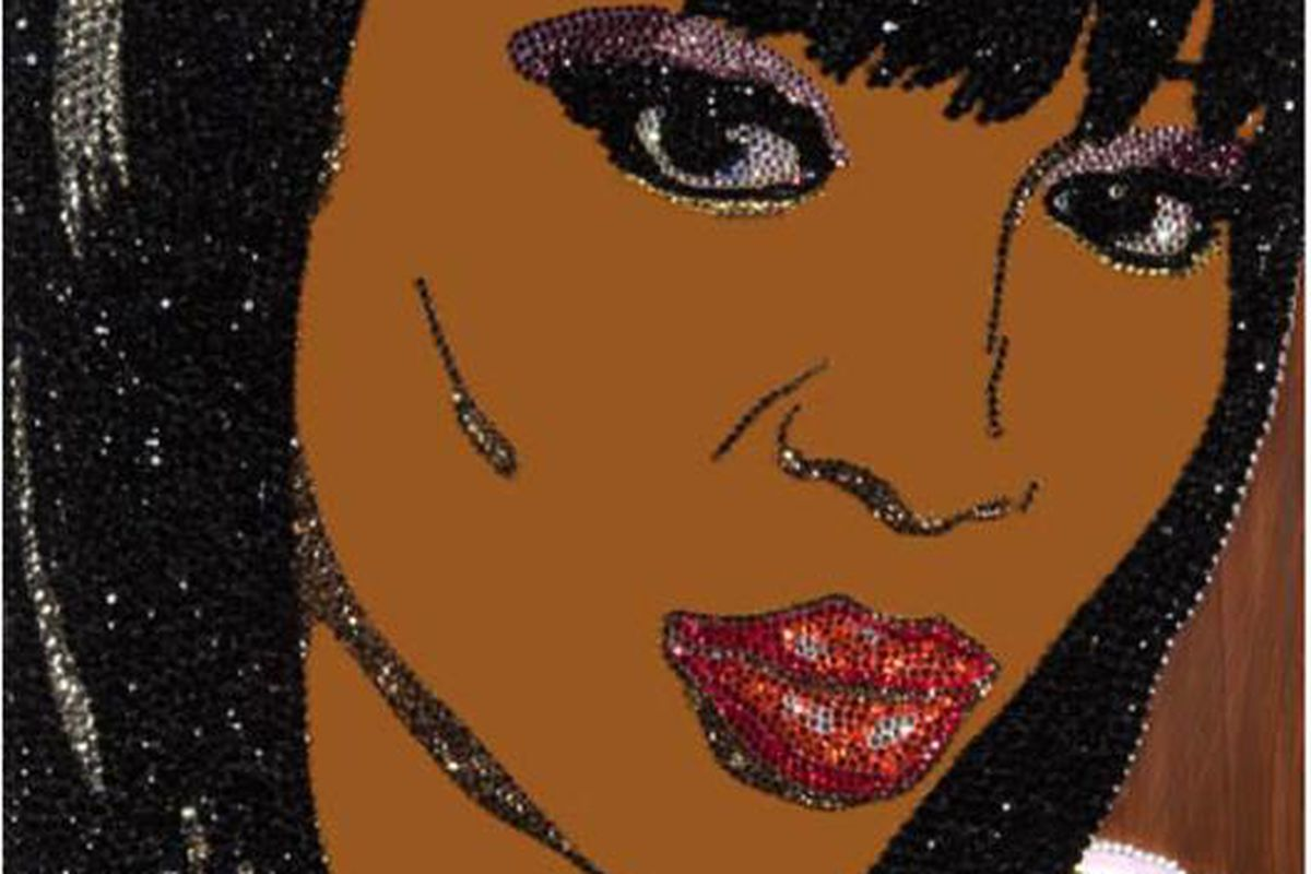 Swarovski Naomi Campbell: Just as sparkly, doesn't throw stuff or punch cameras, in the new V.
