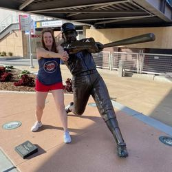 Mom reconnecting with her childhood hero—Harmon Killebrew