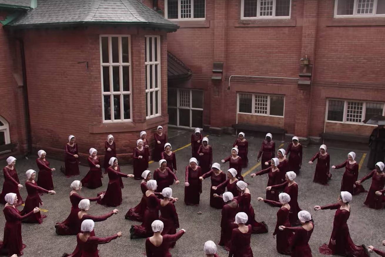 watch the first trailer for the next season of hulu s the handmaid s tale