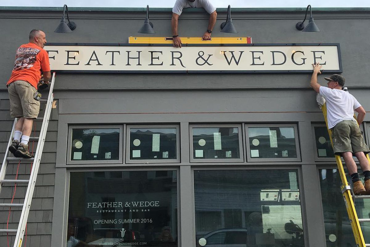 Feather Wedge Opens On The North Shore Eater Boston