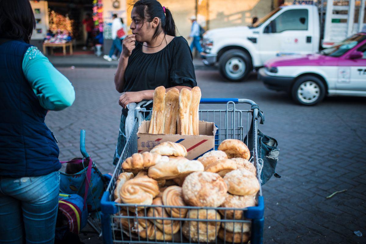 Mexico City bread vendor