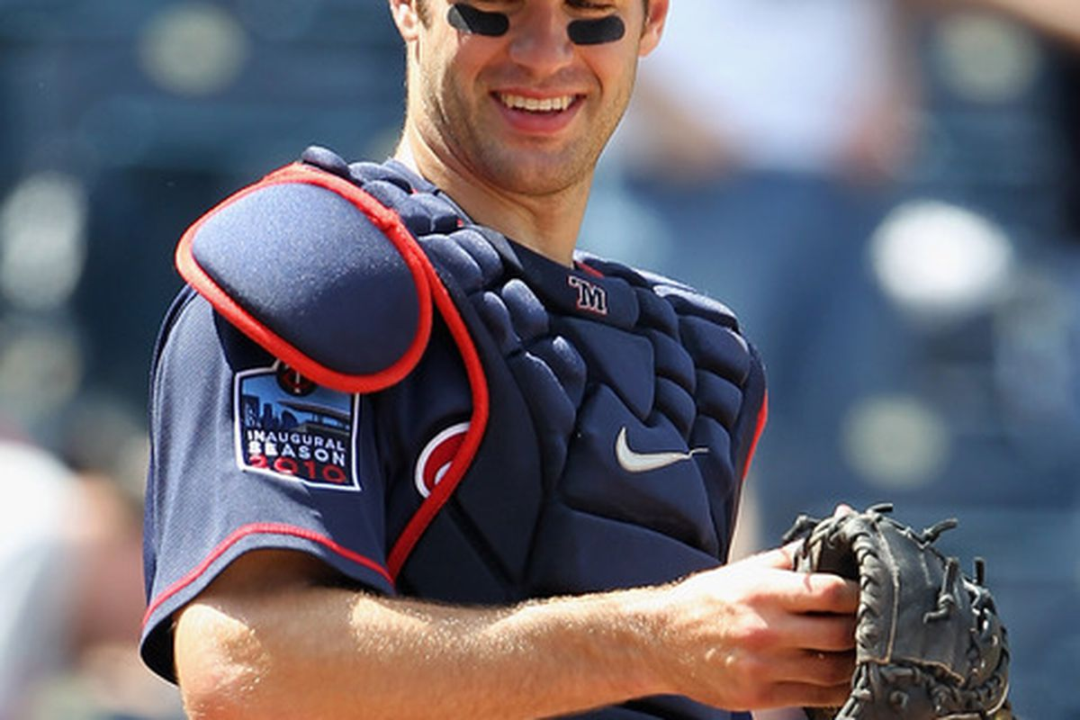 Joe Mauer reacts to being told that his .840 OPS just isn't good enough, which means he must be hurt.