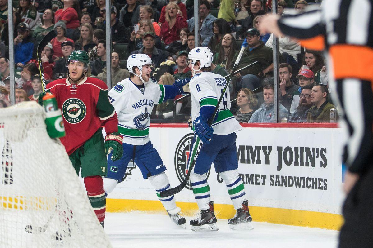 NHL: Vancouver Canucks at Minnesota Wild