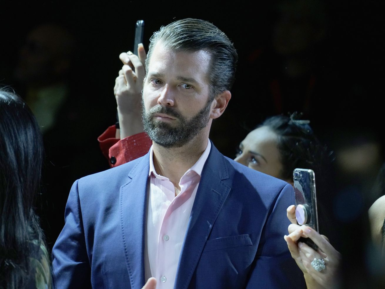 Donald Trump Jr. at a Fashion Week event on February 13, 2019, in New York City.