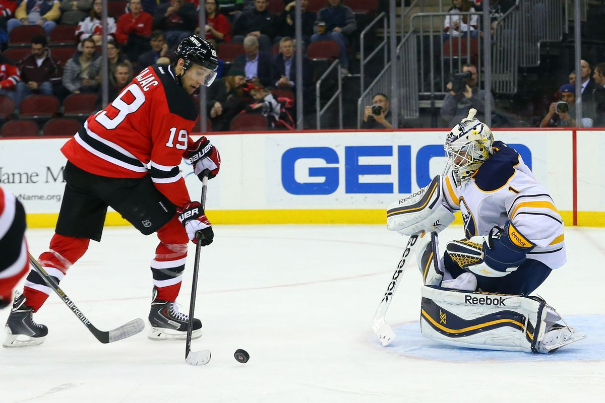This was a great moment from the last Devils-Sabres game. Let's hope they can do something like this against a different goaltender.