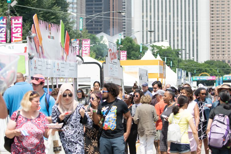 People enjoy the Taste of Chicago on July 11, 2018. | Colin Boyle/Sun-Times
