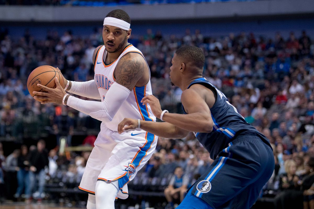 f54c9677f10 The Thunder shouldn t panic. They should bring Carmelo Anthony off the  bench.