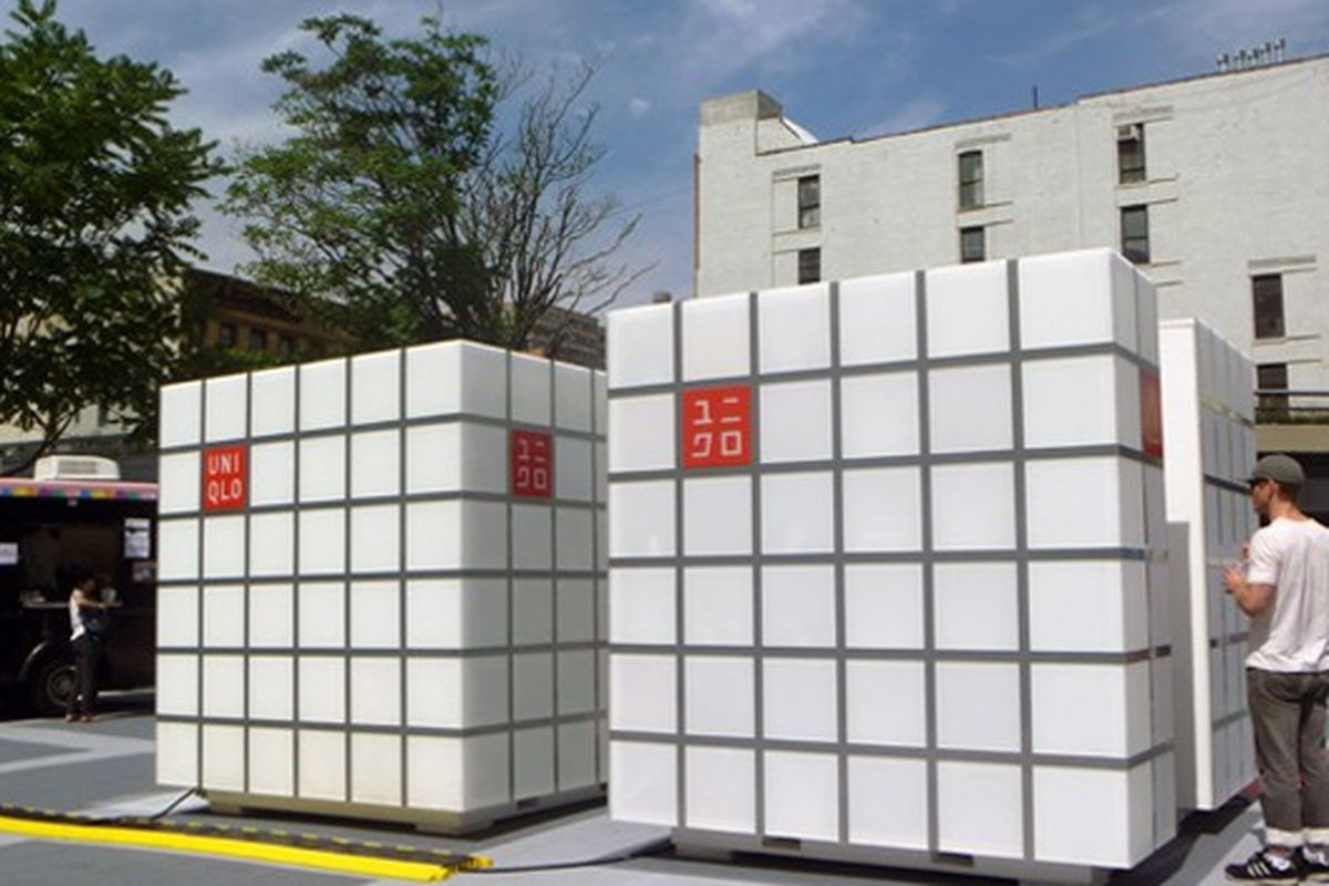 The Uniqlo cubes at the High Line rink