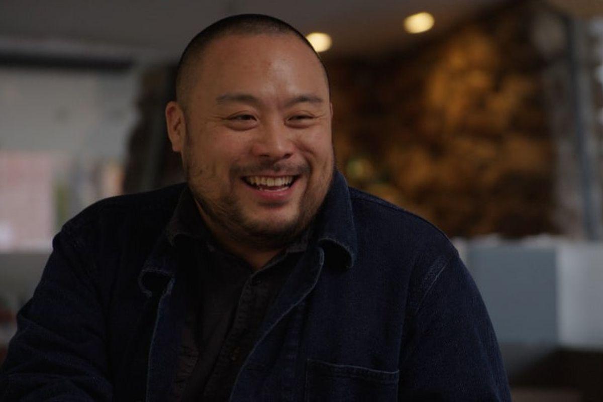 David Chang laughing.