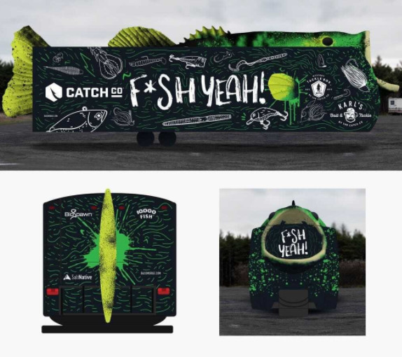 Catch Co.'s Bassmobile in an artistic rendering. Provided by Catch Co.