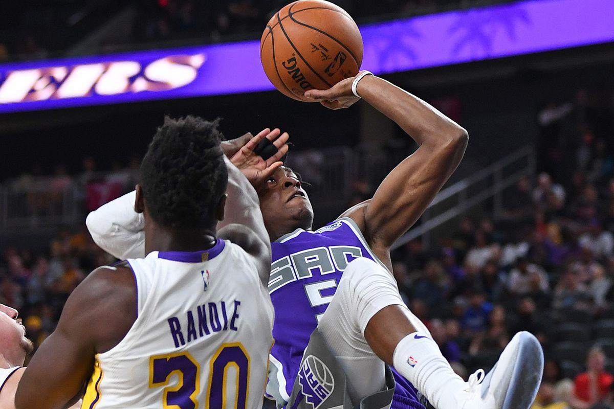 NBA: Preseason-Sacramento Kings at Los Angeles Lakers